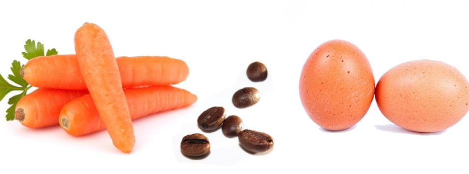 Reflexión, ¿eres una zanahoria, café o huevo?
